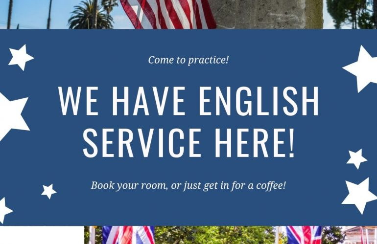 We have English Service here!